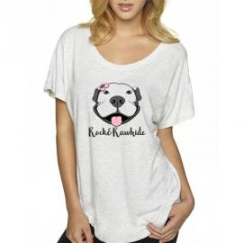 Flower Pittie Dolman Tee