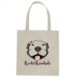 Flower Pittie Tote Bag