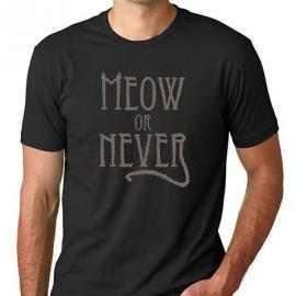 Meow or Never Crew Neck T-Shirt